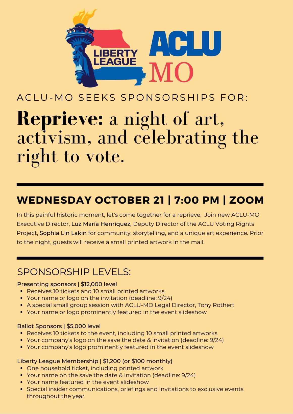 Reprieve: a night of art, activism, and celebrating the right to vote