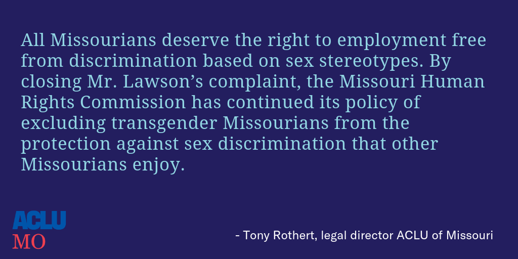 Tony on Lawson v. Missouri Commission on Human Rights