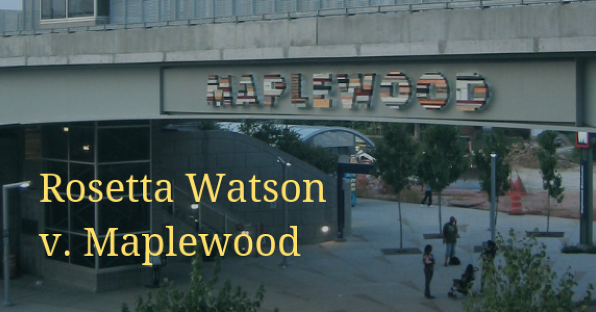 Watson v Maplewood